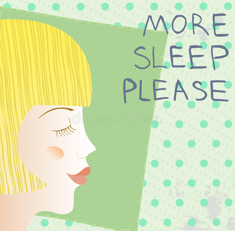 More sleep. A woman with closed eyes on the pillow