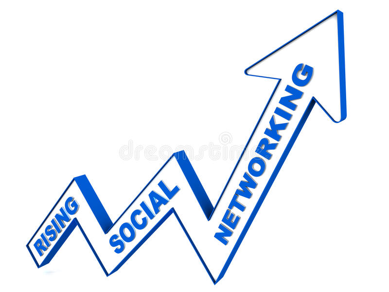 Rising social networking royalty free illustration