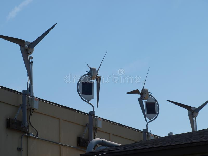 More Windmills of the Smaller Kind Appear On The Landscape royalty free stock photography