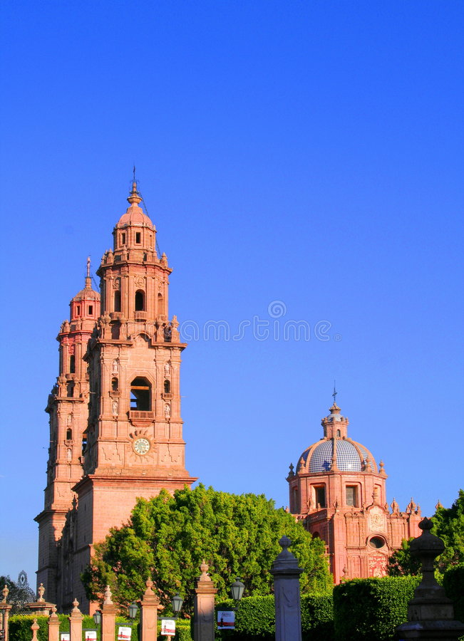 Morelia Cathedral Royalty Free Stock Photography
