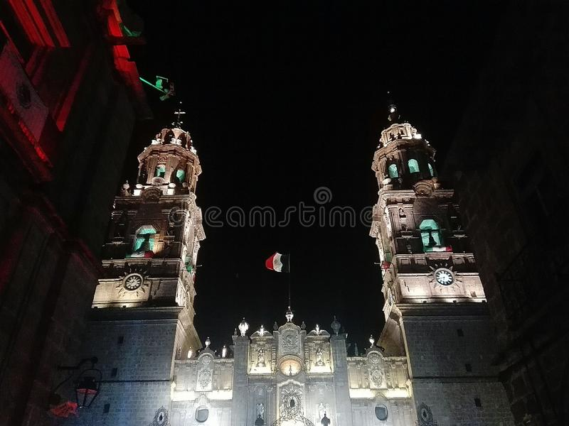 Morelia-Kathedrale stockbilder