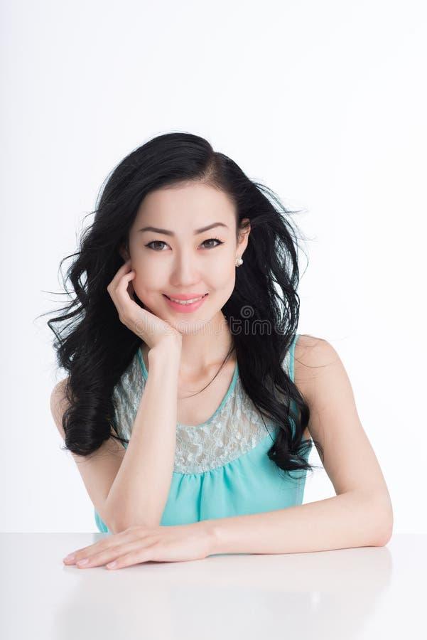 Morena bonita do Mongolian foto de stock