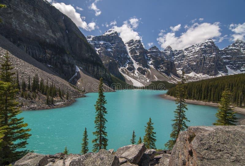 morena canada jeziora obraz stock