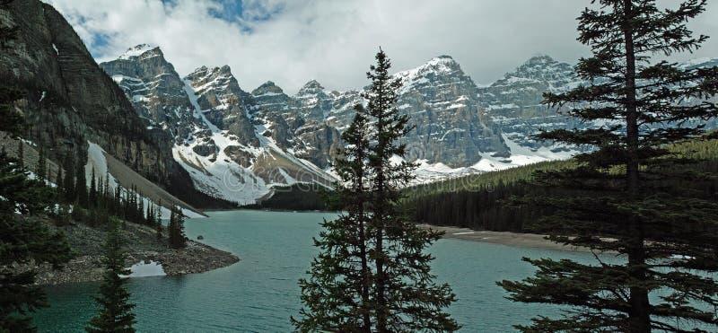 Morena jeziora, Banff park narodowy, Alberta, Kanada fotografia royalty free
