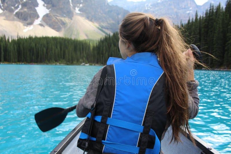 Morena jeziora paddle fotografia stock