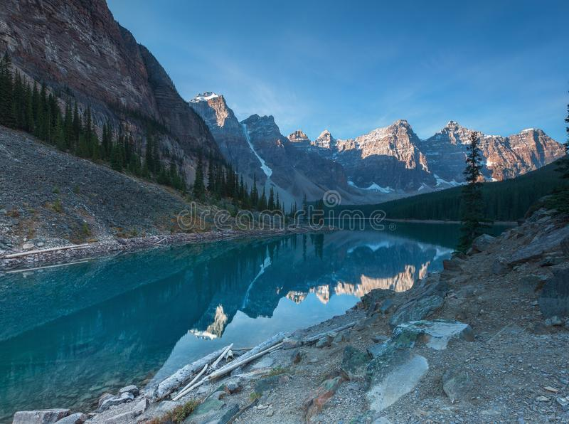 Morena Jeziorny Banff Alberta zdjęcia royalty free