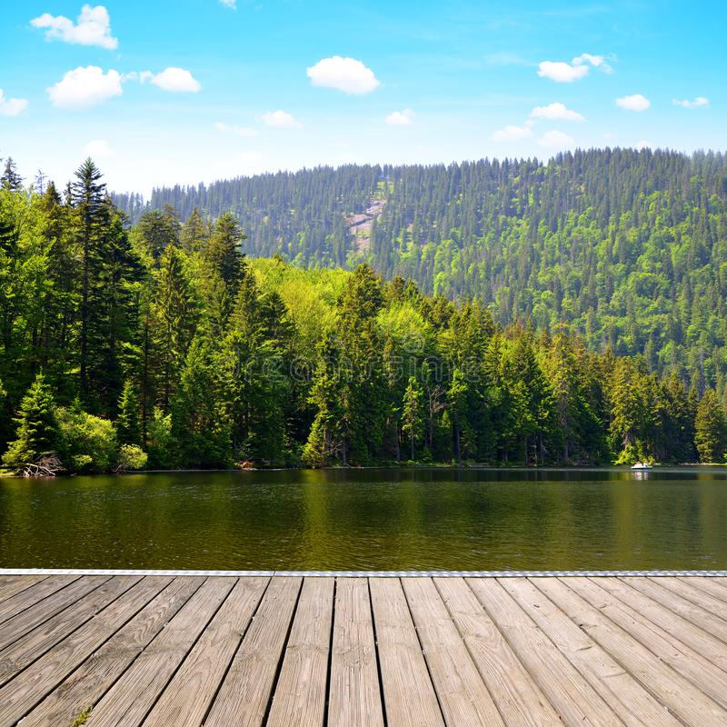 Morena jeziorny Grosser Arbersee, Niemcy zdjęcie royalty free