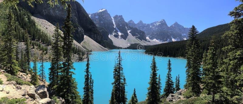 Morena jezioro &-x22; Klejnot w Banff parku narodowym Alberta, Canada† fotografia stock