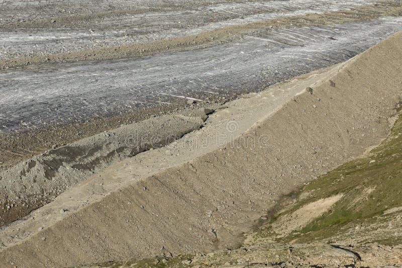 Morena lodowa vadret persy w alps, Szwajcaria obraz royalty free