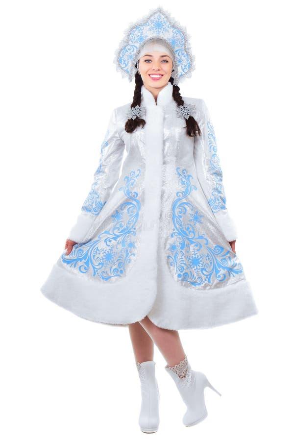 Morenita en traje del invierno foto de archivo libre de regalías
