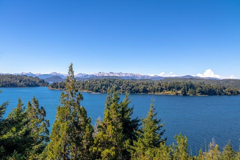 Moreno Lake-mening in Circuito Chico - Bariloche, Patagonië, Argentinië royalty-vrije stock foto's