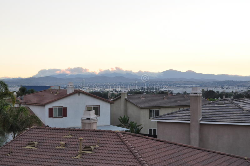 Moreno rooftops stock photography