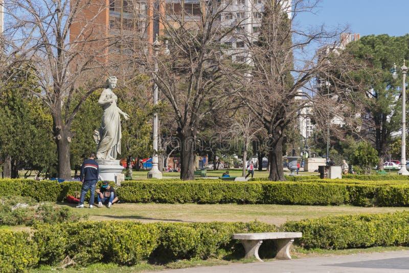 Moreno Square στην πόλη Λα Plata στο Μπουένος Άιρες Αργεντινή στοκ εικόνες