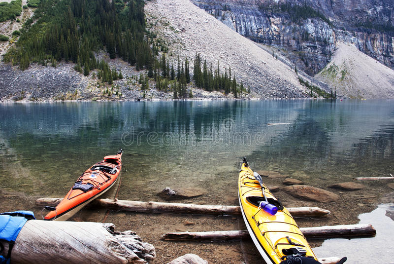 Moreny Banff Jeziorny park narodowy zdjęcie stock