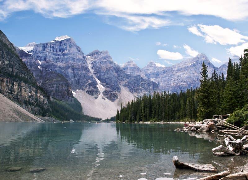 Moreny Banff Jeziorny park narodowy obraz royalty free