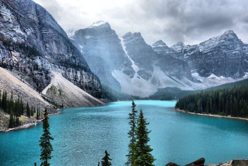 Moreny Banff Jeziorny park narodowy obraz stock