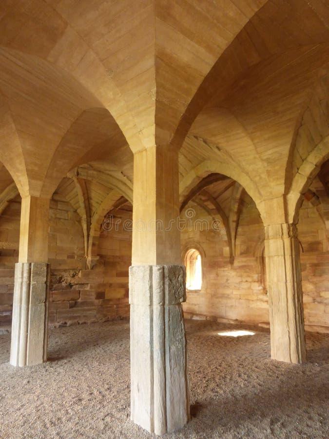 MORERUELA老修道院在萨莫拉 库存照片