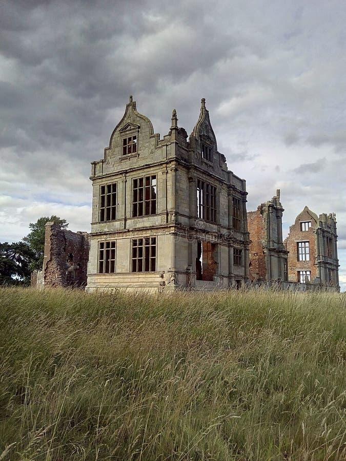 Moreton Corbett Castle royaltyfria foton