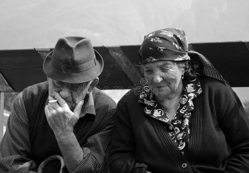 morföräldrar arkivfoto