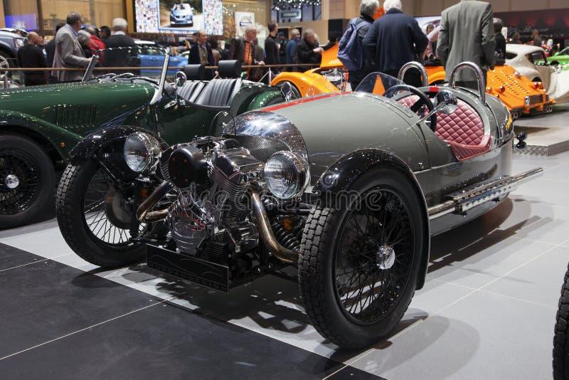 Morgan 3 Wheeler at Geneva stock photos