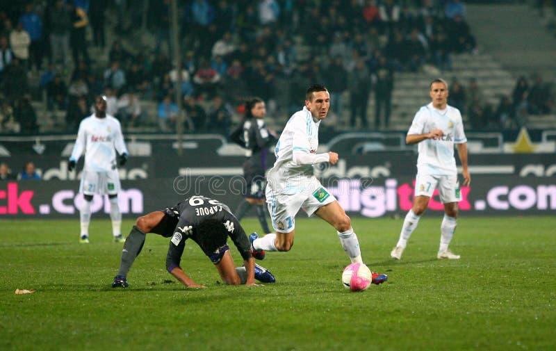 Morgan Amalfitano van Olympique DE Marseille royalty-vrije stock afbeeldingen