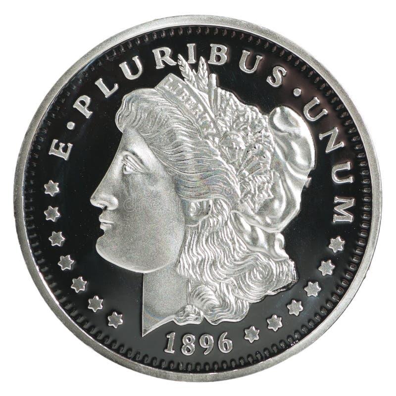 Morgan dolara moneta zdjęcie stock