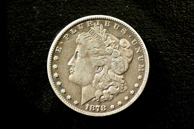 Download Morgan Dollar 7 Feather stock image. Image of currency - 1629995