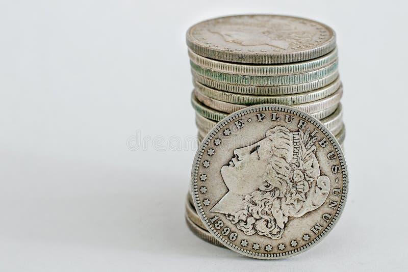 Morgan Dollar-Münze 1896 stockbild