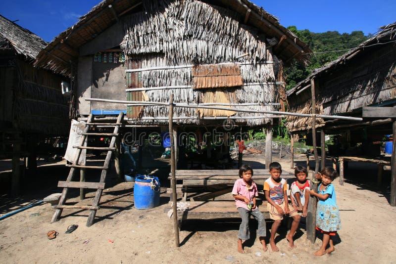 Morgan dzieci przy wioską fotografia royalty free