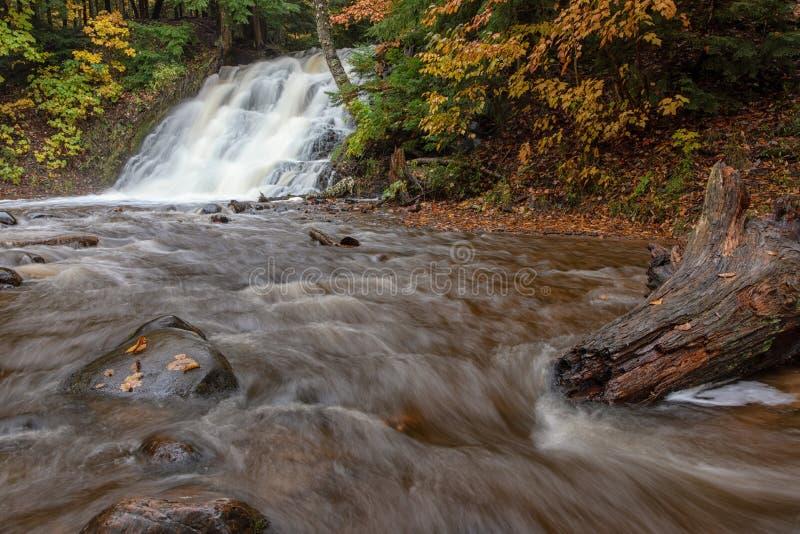 Morgan Falls em Marquette Michigan imagem de stock royalty free