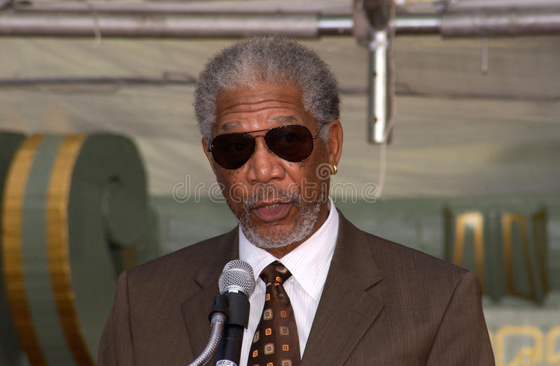 Morgan Freeman royalty free stock photography