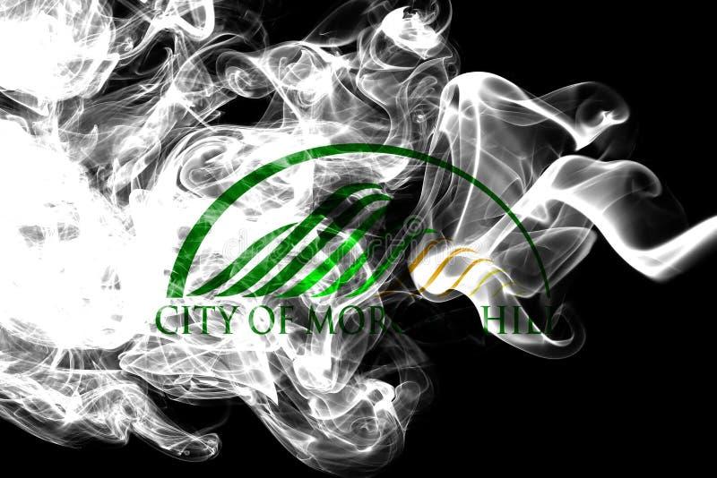 Morgan Hill city smoke flag, California State, United States Of America royalty free illustration