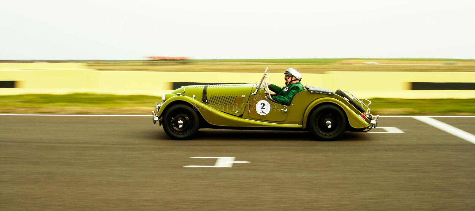 Morgan Racing on Circuit royalty free stock images