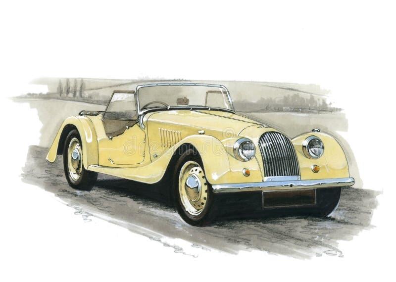 Morgan 4/4 Series II-V vector illustration