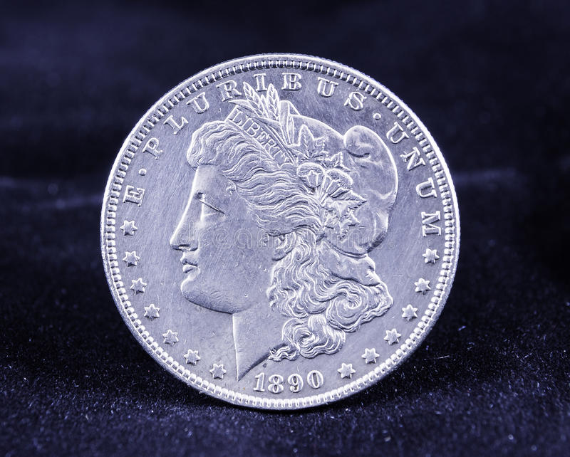 Morgan Silver Dollar 1890 stock fotografie