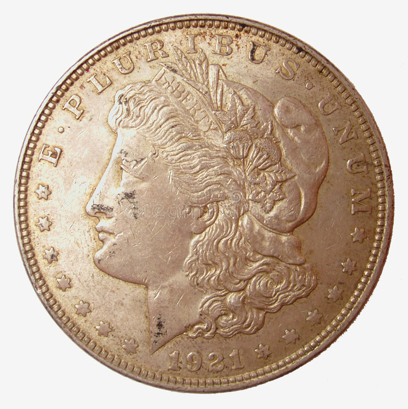 Morgan Silver Dollar stock photos
