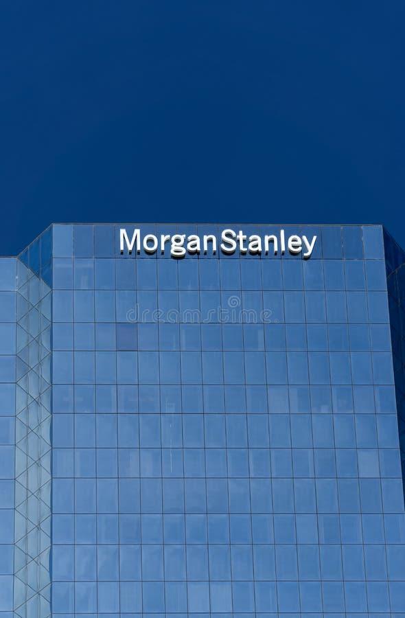 Morgan Stanley Building en Embleem royalty-vrije stock afbeeldingen