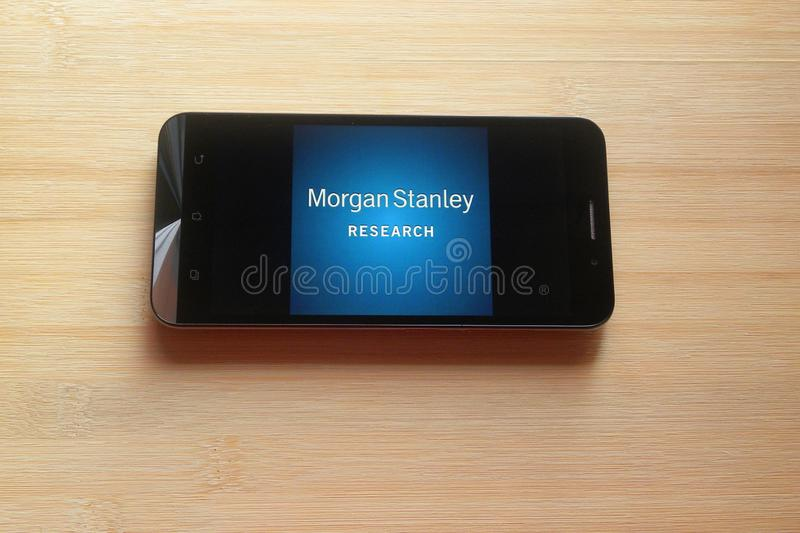 Morgan Stanley Research app stock fotografie