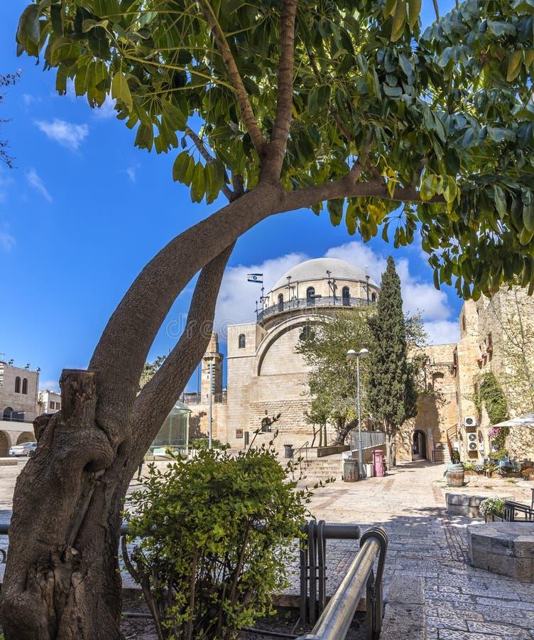 Morgen in alter Jerusalem-Stadt, Israel lizenzfreie stockfotos