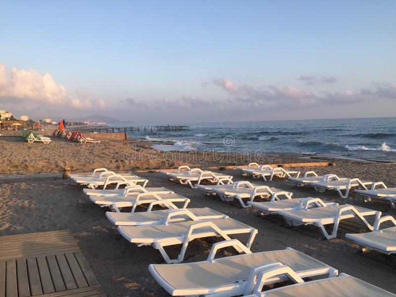 Morgen auf dem Strand stockbilder