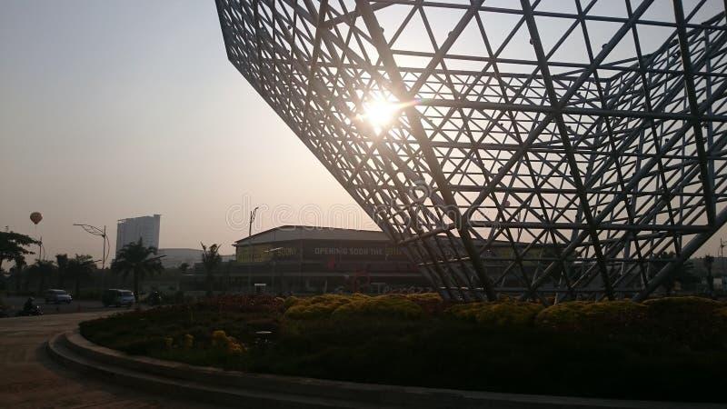 Morgen in Bekasi lizenzfreie stockfotos