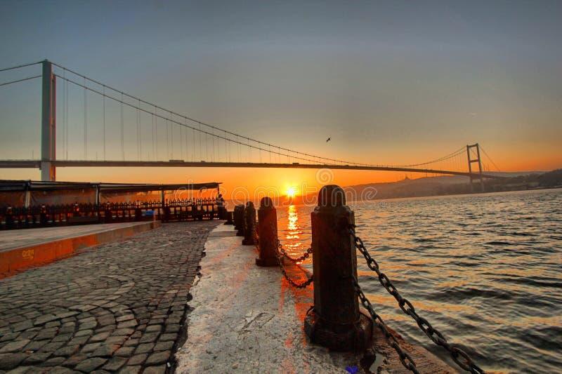 Morgen Bosphorus Istanbul stockbild