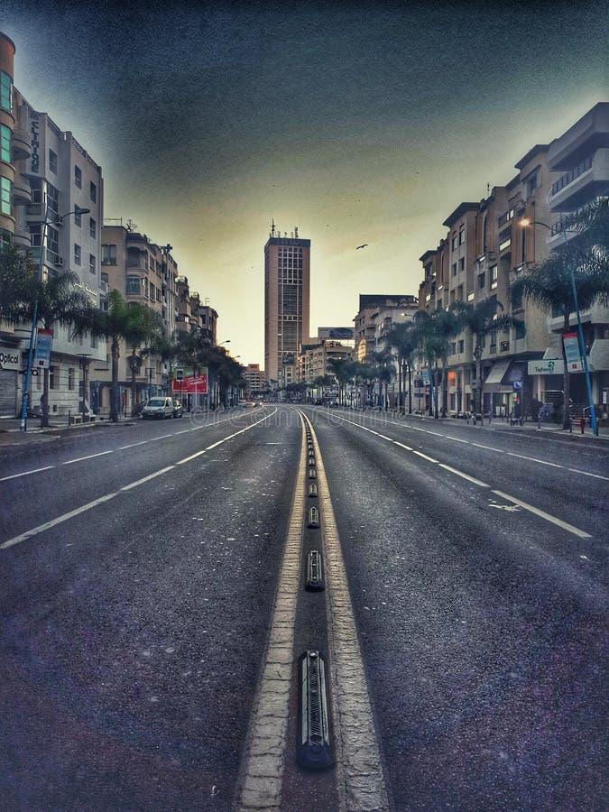 Morgen in Casablanca stockbild
