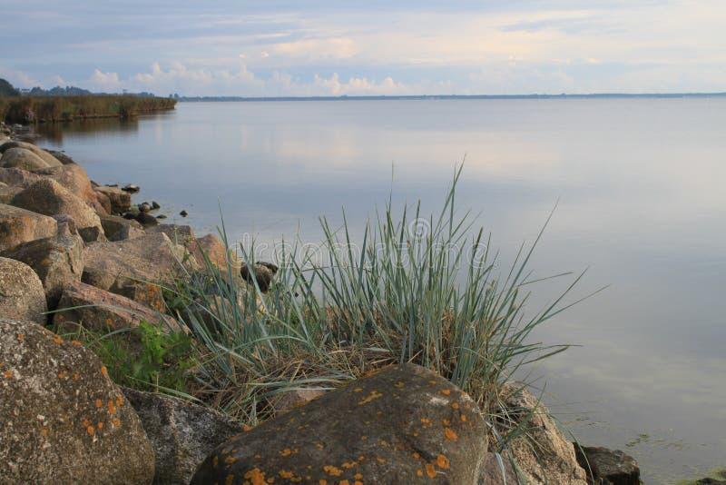 Morgen in der Bucht des Kobolds, Polen stockbild