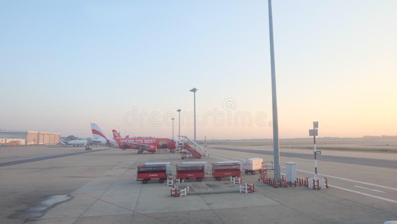 Morgen Donmuang-Flughafen in Thailand stockbild