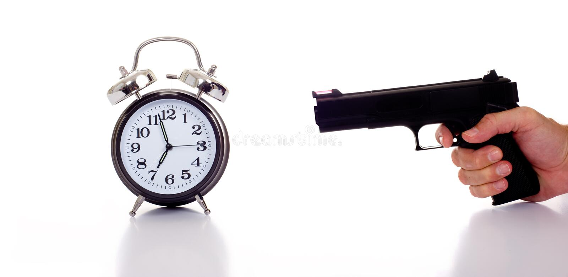 Morgen-Druck stockfoto