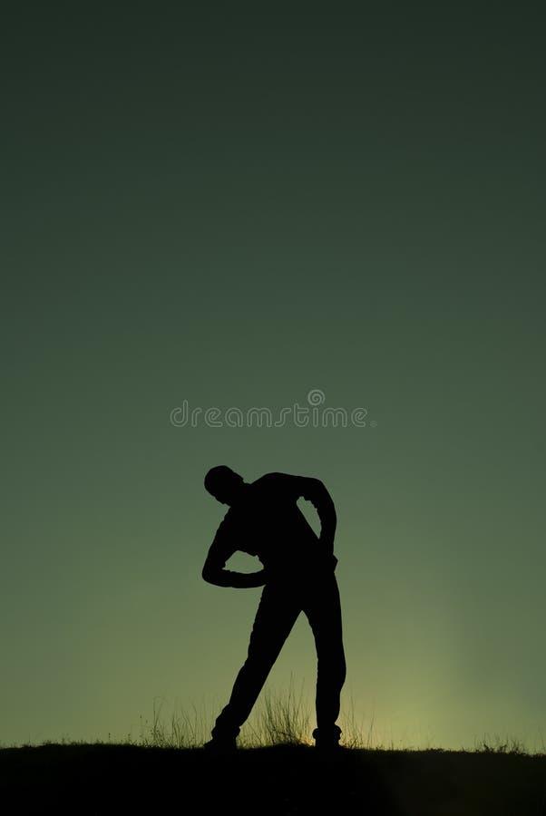 Morgen gymnastisch lizenzfreie stockbilder