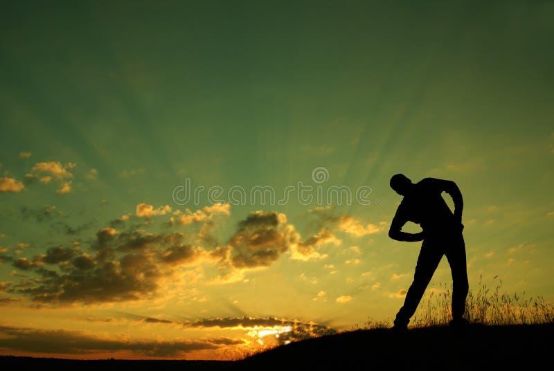 Morgen gymnastisch stockbild