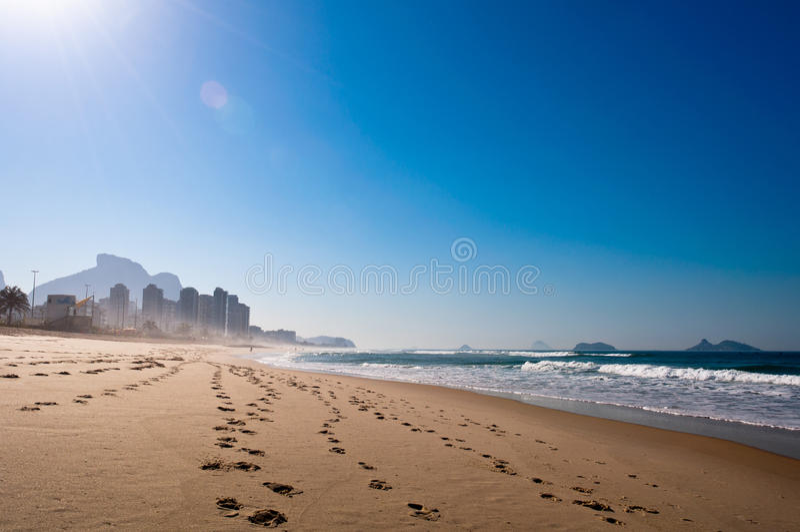 Morgen im Strand stockfotografie