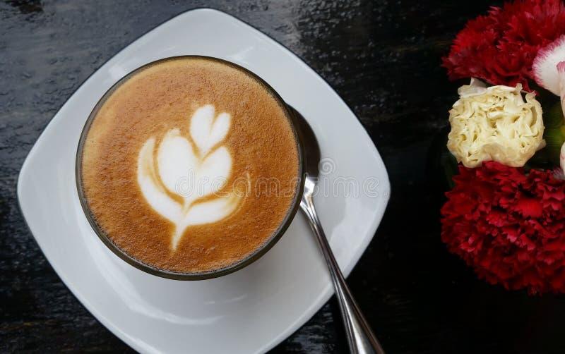 Morgen-Kaffee Latte stockfotografie